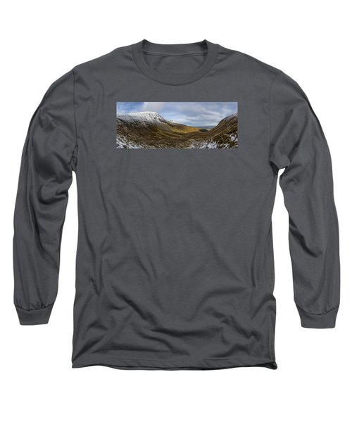 Slieve Commedagh And Slieve Donard Panorama From The Assent  Long Sleeve T-Shirt