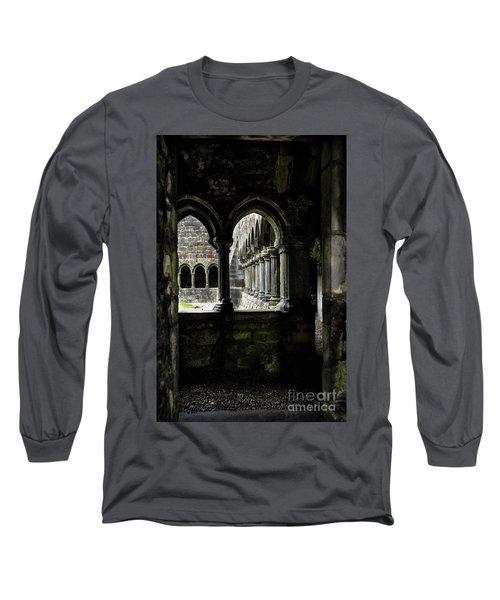 Long Sleeve T-Shirt featuring the photograph Sligo Abbey Interior by RicardMN Photography
