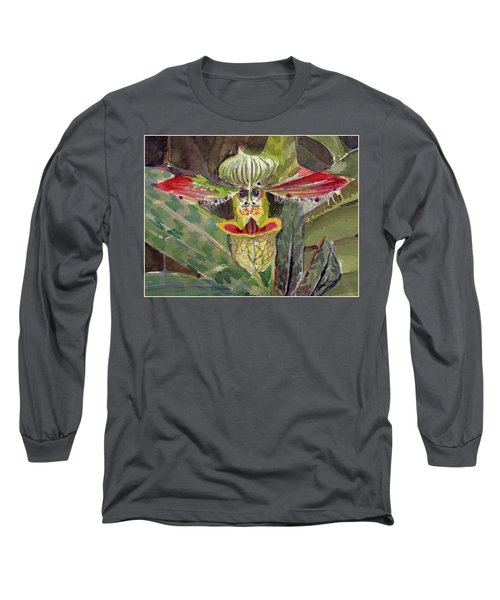 Long Sleeve T-Shirt featuring the painting Slipper Foot Aladdin by Mindy Newman