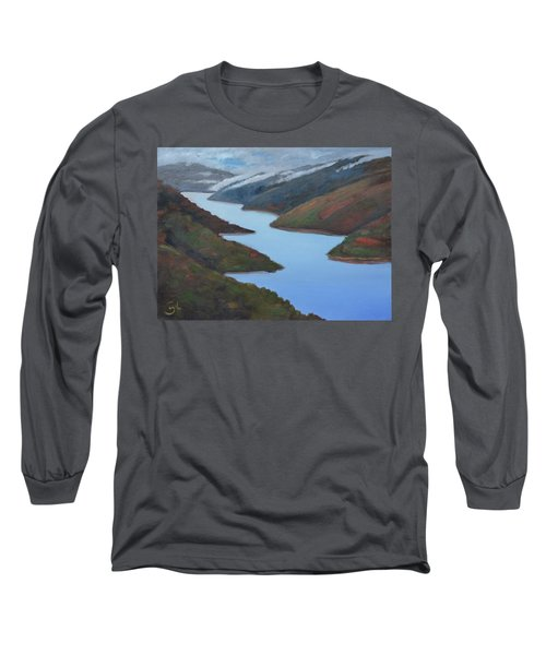 Sliver Of Crystal Springs Long Sleeve T-Shirt by Gary Coleman