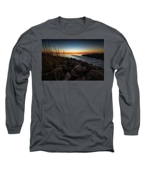 Slow Motion Runoff Long Sleeve T-Shirt by Allen Biedrzycki