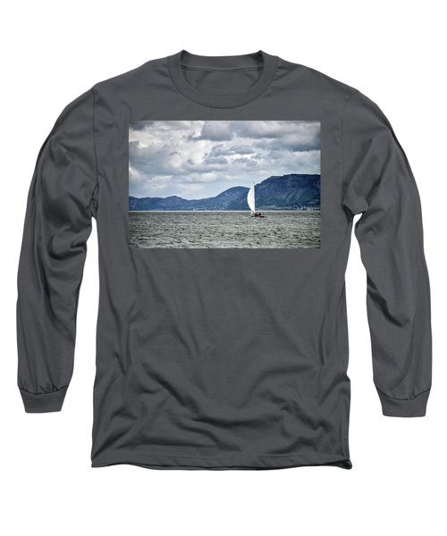 Small Leisure Sailing Boat On Menai Straits In Anglesey Wales Wi Long Sleeve T-Shirt