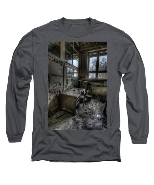 Small Office Long Sleeve T-Shirt by Nathan Wright