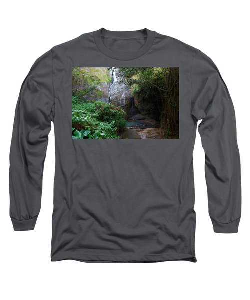 Small Waterfall Long Sleeve T-Shirt by Ricardo J Ruiz de Porras