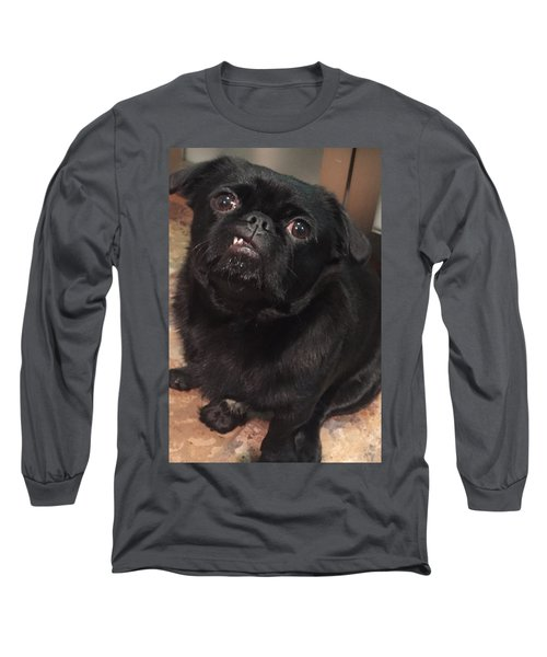 Long Sleeve T-Shirt featuring the photograph Smiling For Treats by Paula Brown