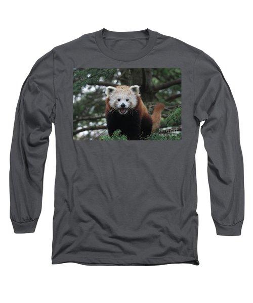 Smiling Red Panda #2 Long Sleeve T-Shirt