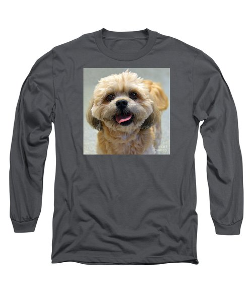Smiling Shih Tzu Dog Long Sleeve T-Shirt