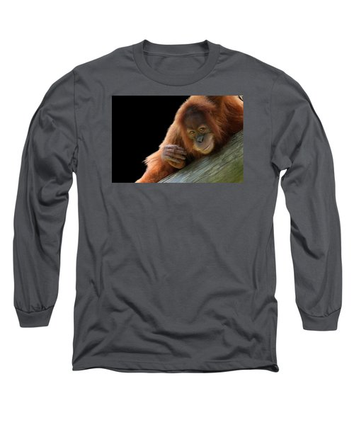 Cute Young Orangutan Long Sleeve T-Shirt
