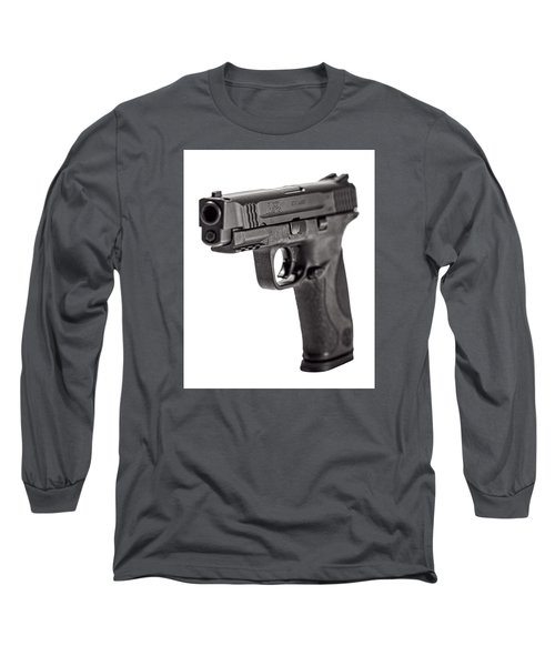 Long Sleeve T-Shirt featuring the photograph Smith And Wesson Handgun by Andy Crawford