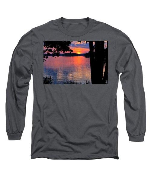 Smith Mountain Lake Sunset Long Sleeve T-Shirt
