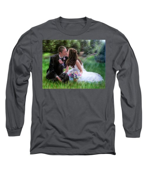 Smith Wedding Portrait Long Sleeve T-Shirt by Jane Girardot