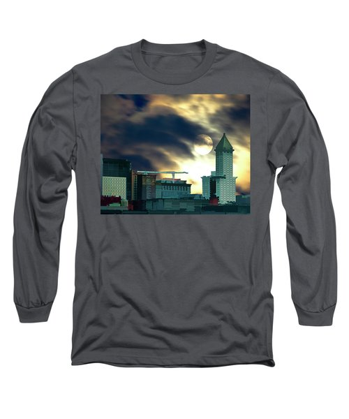 Long Sleeve T-Shirt featuring the photograph Smithtower Moon by Dale Stillman