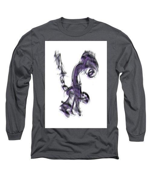 Smoke 01 Purple Long Sleeve T-Shirt
