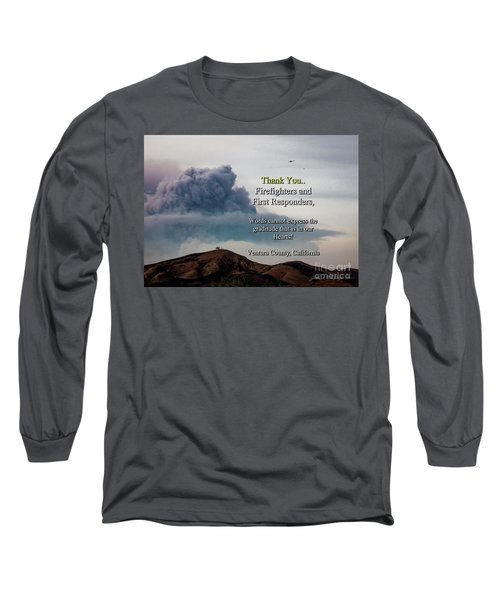 Smoke Cloud Over Two Trees Long Sleeve T-Shirt
