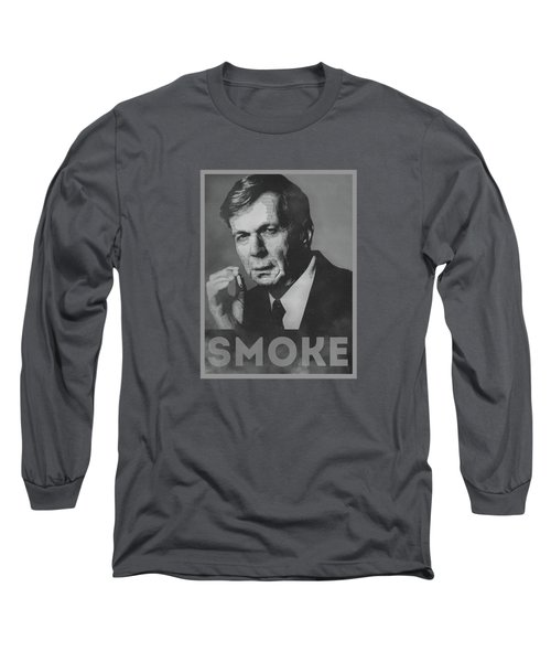 Smoke Funny Obama Hope Parody Smoking Man Long Sleeve T-Shirt