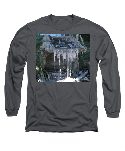 Smokey Stoves Frozen Falls Long Sleeve T-Shirt by Marie Neder