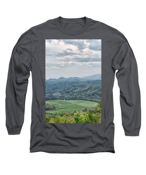 Smoky Mountain Scenic View Long Sleeve T-Shirt