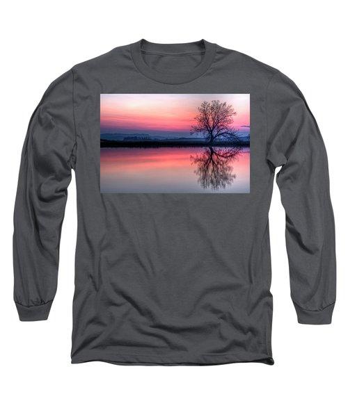 Smoky Sunrise Long Sleeve T-Shirt by Fiskr Larsen