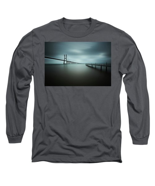 Smooth Gray Long Sleeve T-Shirt
