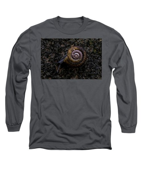 Long Sleeve T-Shirt featuring the photograph Snail by Jay Stockhaus