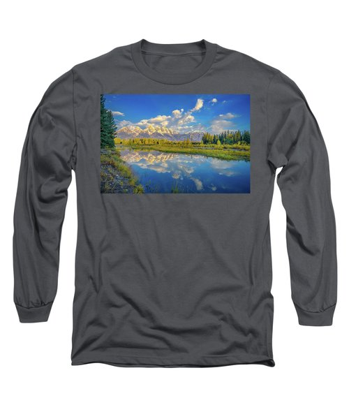Snake River Reflection Grand Teton Long Sleeve T-Shirt