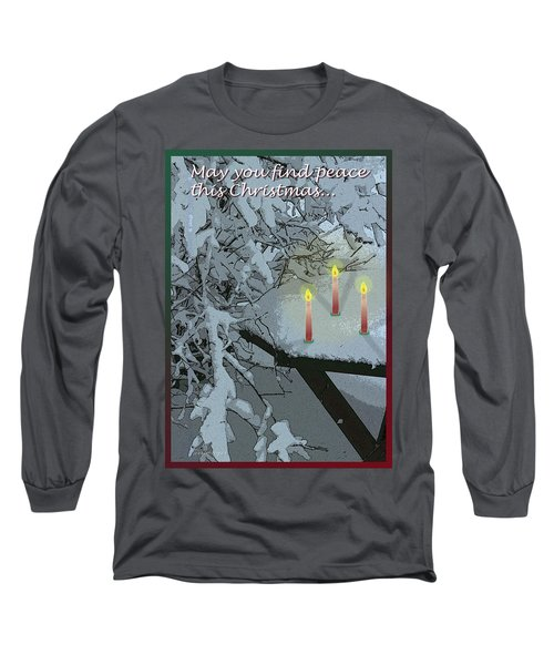 Snow And Candlelight Long Sleeve T-Shirt