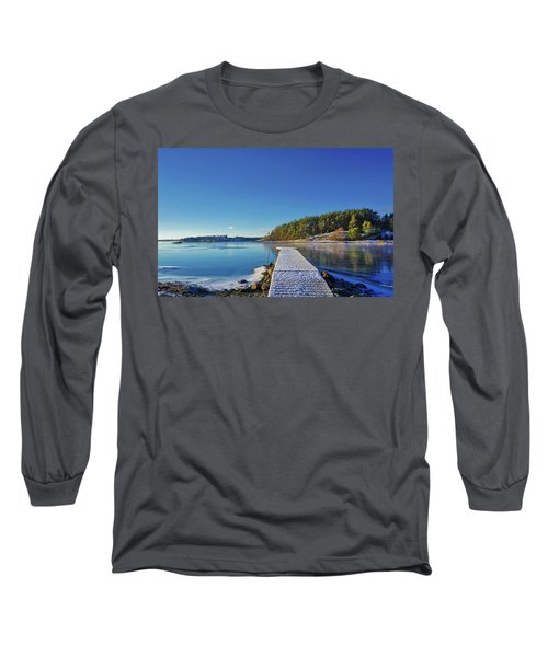 Snow-covered Dock Long Sleeve T-Shirt