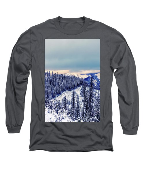 Snow Covered Mountains Long Sleeve T-Shirt