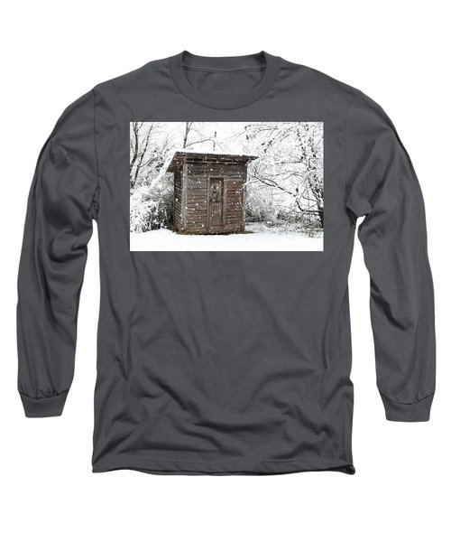 Snow Covered Outhouse Long Sleeve T-Shirt