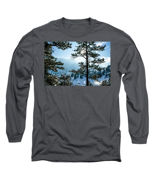 Snow-covered Trees Long Sleeve T-Shirt