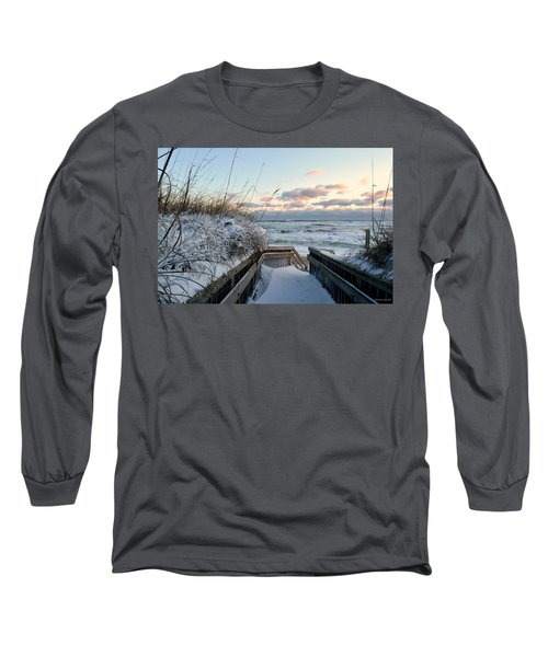 Snow Day At The Beach Long Sleeve T-Shirt