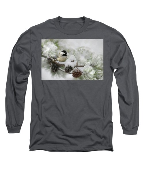 Long Sleeve T-Shirt featuring the photograph Snow Day by Lori Deiter