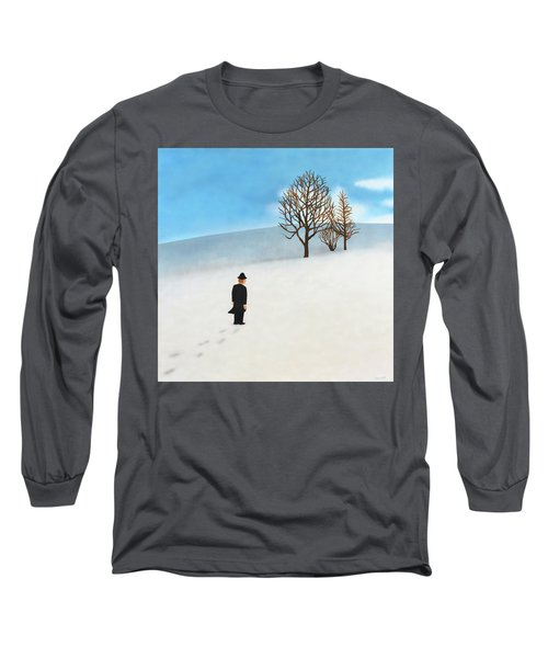 Snow Day Long Sleeve T-Shirt by Thomas Blood
