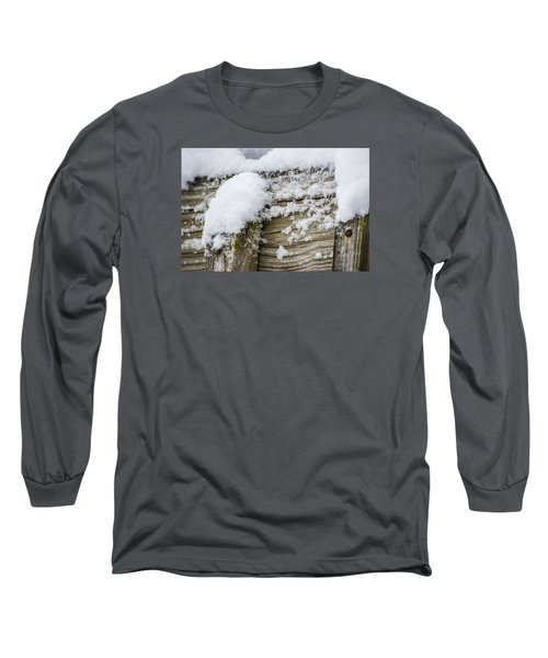 Snow Fluff And Woodgrain Long Sleeve T-Shirt