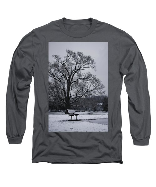 Snow In East Brunswick Long Sleeve T-Shirt by Vadim Levin