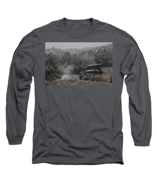 Snow In The Old Santa Fe Corral Long Sleeve T-Shirt