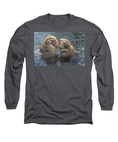 Snow Monkey Kisses Long Sleeve T-Shirt