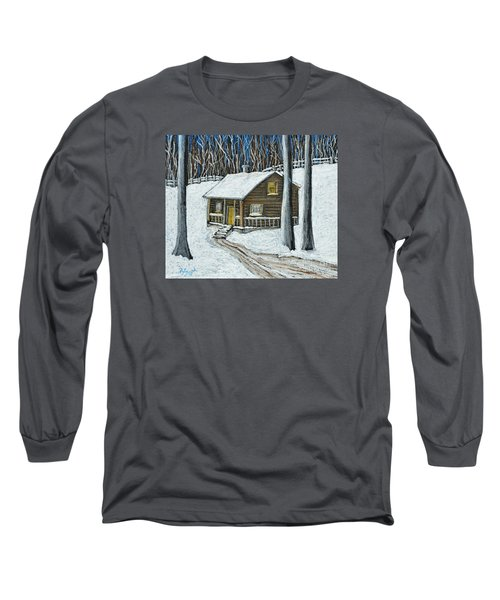 Snow On Cabin Long Sleeve T-Shirt