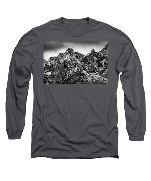 Long Sleeve T-Shirt featuring the photograph Snow On Peaks 46 by Mark Myhaver