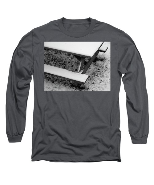 Snow On Picnic Table Long Sleeve T-Shirt