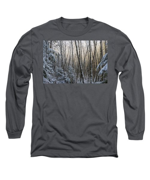 Snow On The Alders Long Sleeve T-Shirt