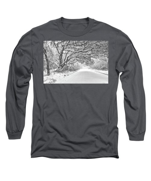 Snow On Witsell Rd - Oak Tree Long Sleeve T-Shirt