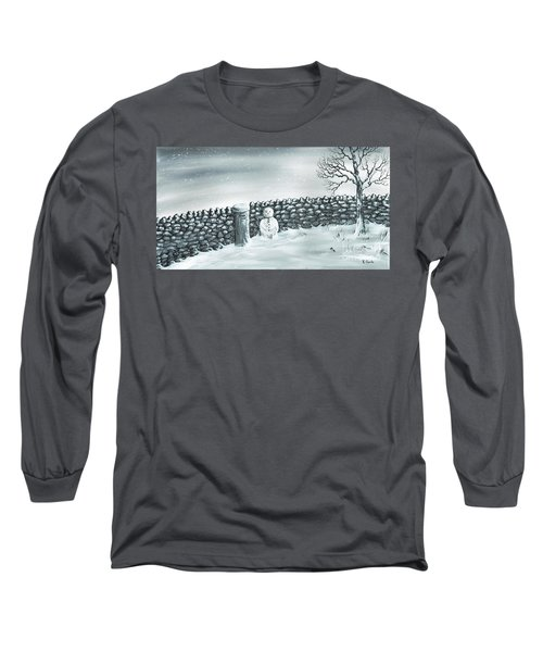 Long Sleeve T-Shirt featuring the painting Snow Patrol by Kenneth Clarke