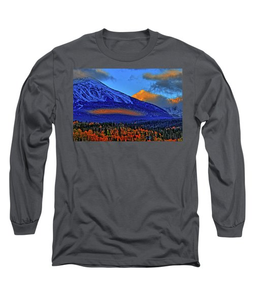 Long Sleeve T-Shirt featuring the photograph Snow Peak Fall by Scott Mahon