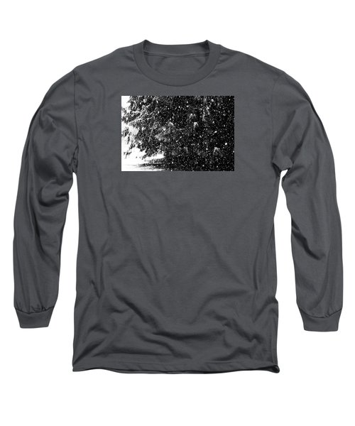 Long Sleeve T-Shirt featuring the photograph Snow by Yulia Kazansky