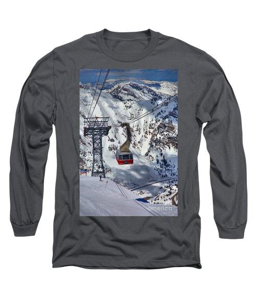 Snowbird Tram Portrait Long Sleeve T-Shirt