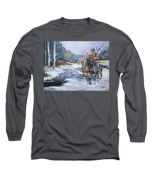 Snowbound Hunters Long Sleeve T-Shirt by Al Brown
