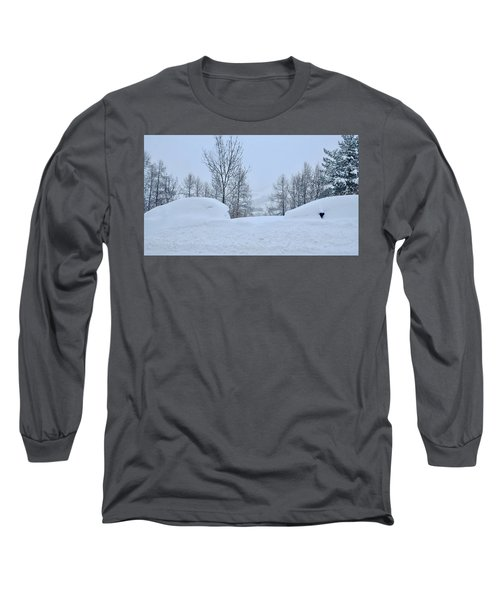 Long Sleeve T-Shirt featuring the photograph Snowed-in by August Timmermans