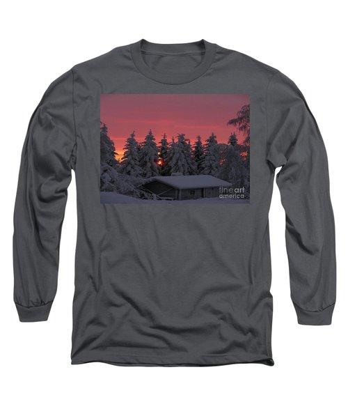 Snowed In Long Sleeve T-Shirt by Rod Jellison