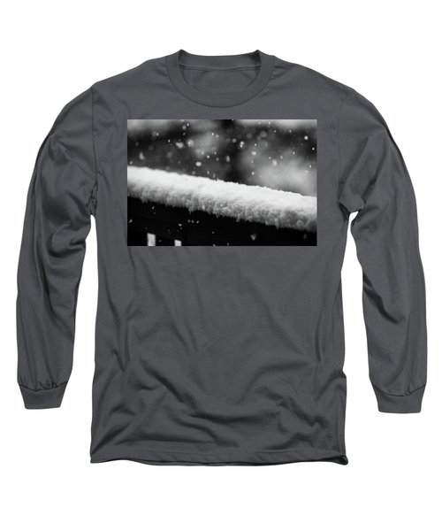 Snowfall On The Handrail Long Sleeve T-Shirt